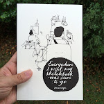 DREWSCAPE ART BOOK: EVERYWHERE I WENT, MY SKETCHBOOK WAS SURE TO GO