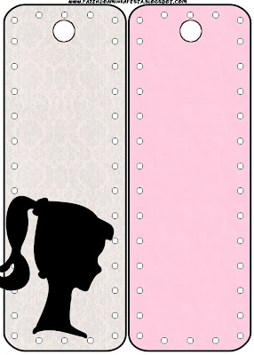 Marcapáginas para imprimir gratis de Barbie Silueta.