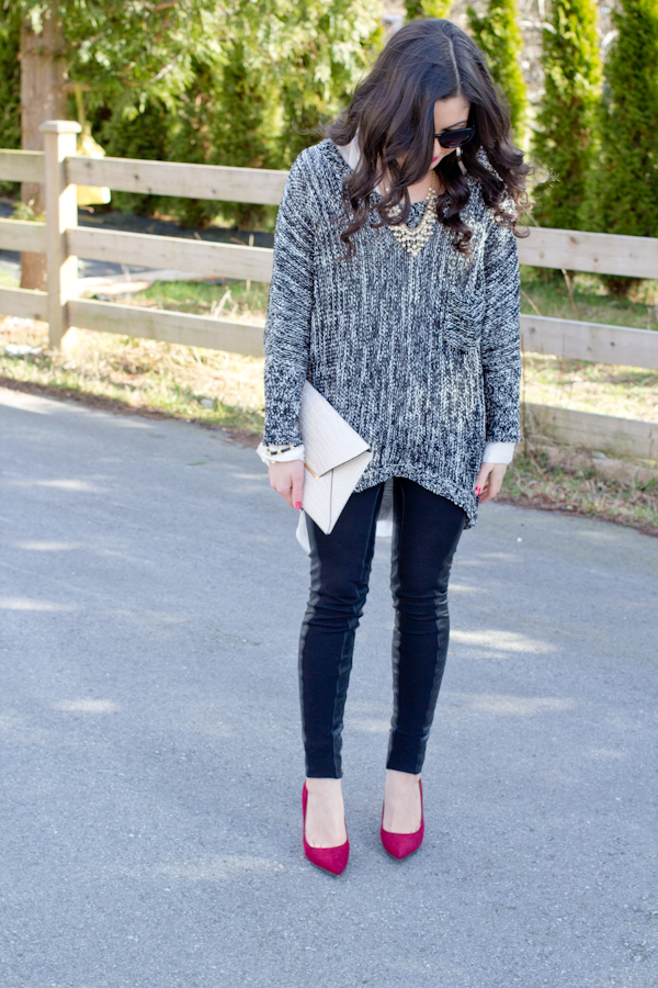 Chelle Morgan wearing BCBGMaxazria, Target, and Lady Dutch on Discovering Elegance