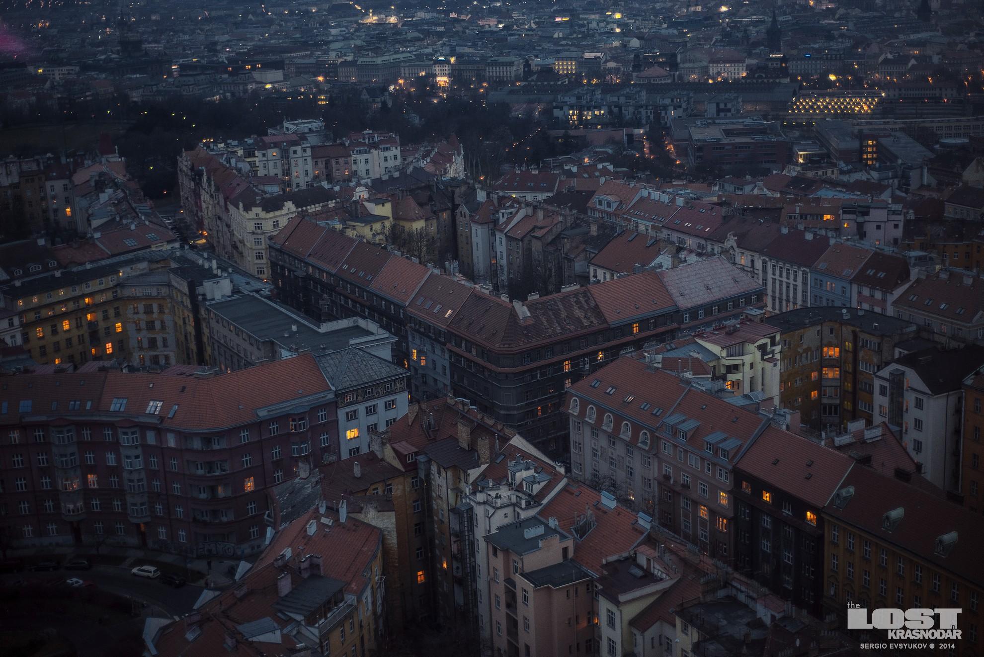 Прага 2 ночью