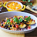 Crispy Potato Skins With Black Bean Salsa
