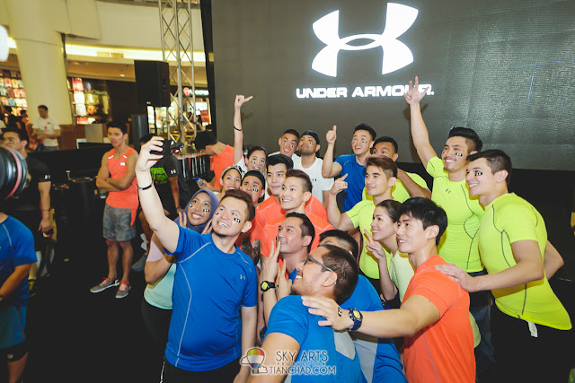 Selfie moment @ Under Armour Earn Your Armour Campaign