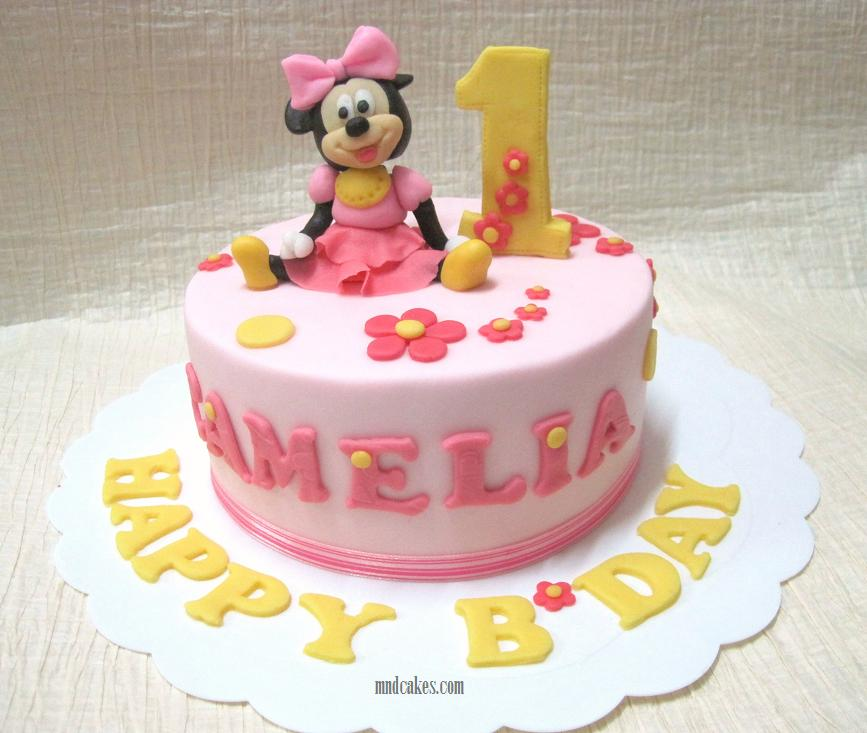 Cake Design For One Year Birthday : Mom And Daughter Cakes: First birthday Is Always Special