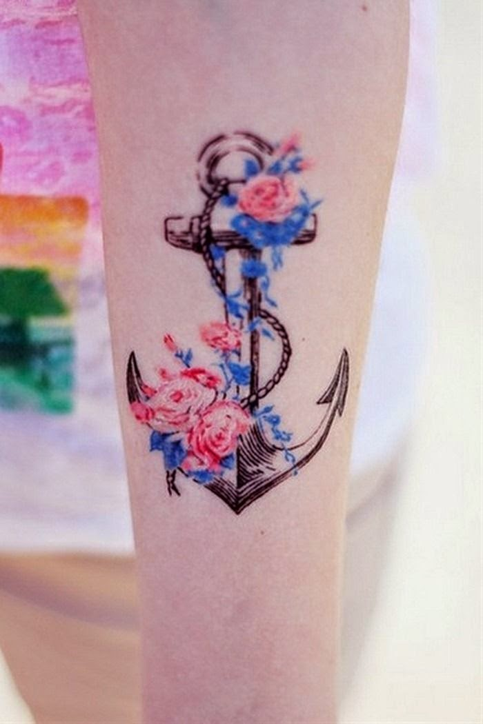 anchors for woman | Women Tattoo Designs | Ideas for Women Tattoos