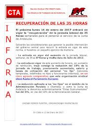 RECUPERACIÓN DE LAS 35 HORAS