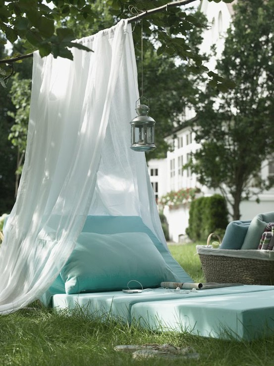 outdoor lounging space
