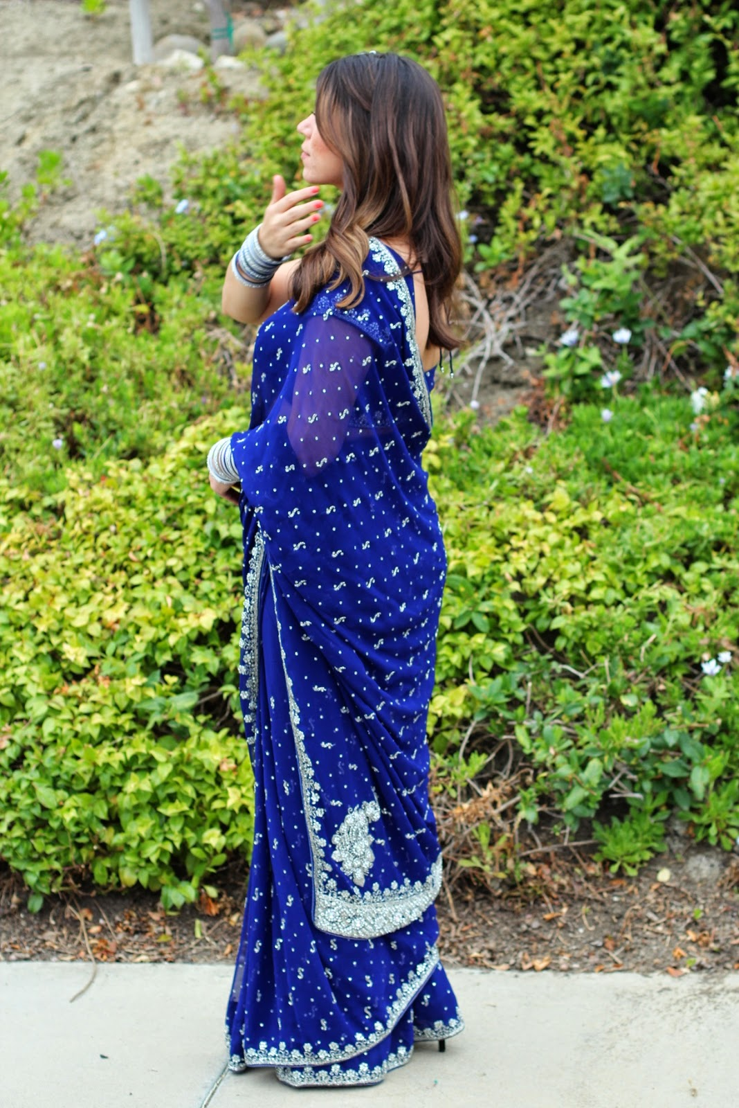 the south coast movement blending cultures n sari wear the shop where i got this beautiful blue sari is called raas the customer service was great and the w in the store was very helpful