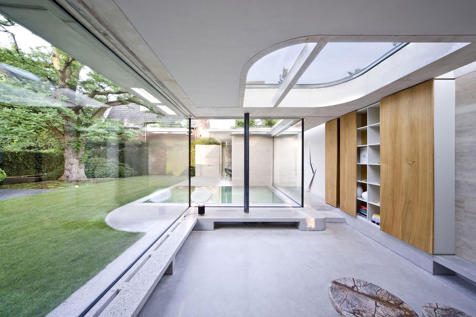 Contemporary Glass Bathroom
