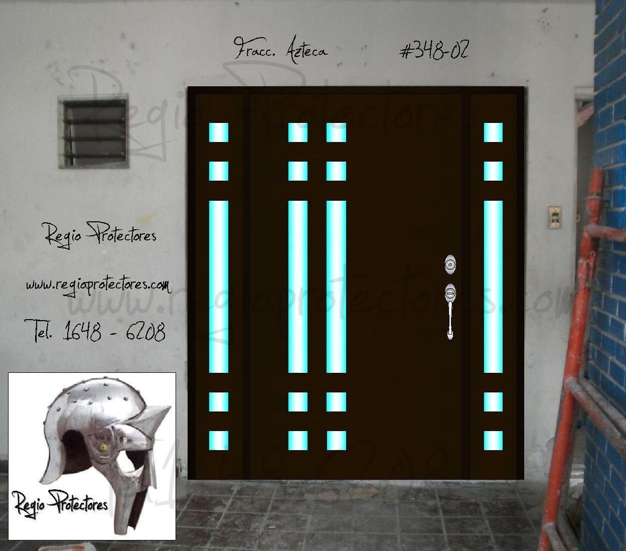 Regio protectores puerta principal contempor nea fracc for Puertas de acceso principal
