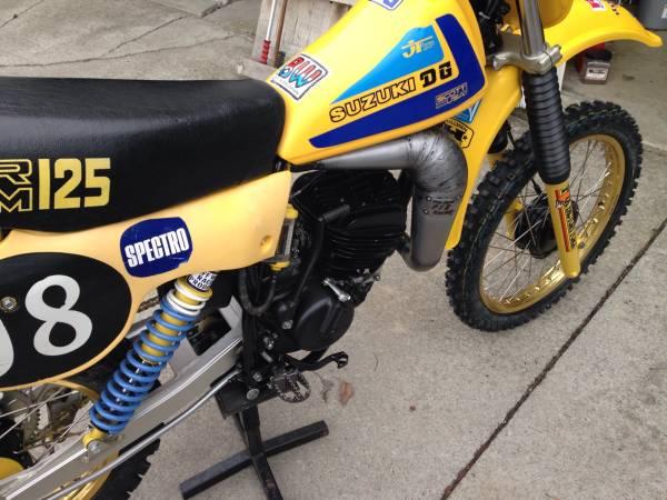 1979 Suzuki Rm125 Vintage Mx Motorcycle For Sale