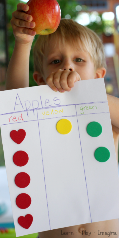 Apple graphing - hands on math for fall