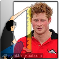 What is the height of Prince Harry?