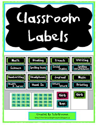 https://www.teacherspayteachers.com/Product/Classroom-Labels-Green-Blue-and-Black-277603