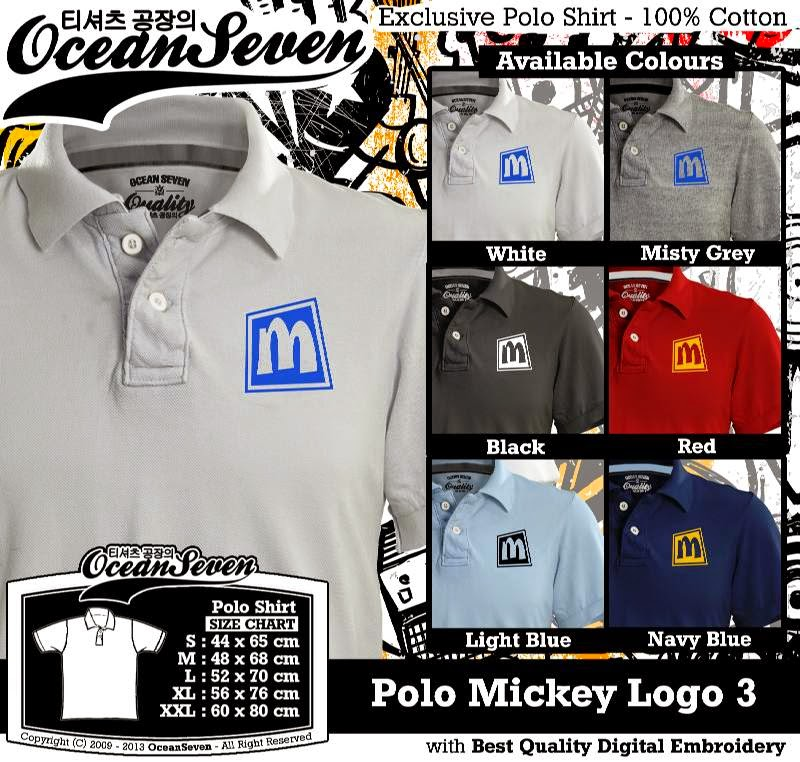 Kaos Polo Mickey Logo 3