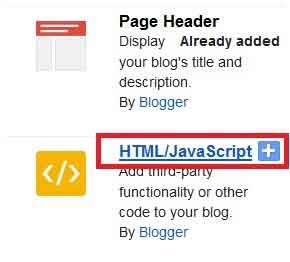 Cara memasang widget jam di blog