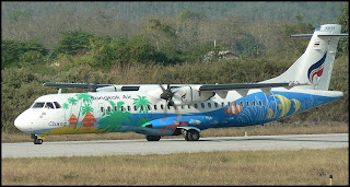 colorfully painted Bangkok Airways plane - image by Bangkok Airways
