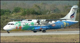 colorfully painted Bangkok Airways plane - image by Bangkok Airways