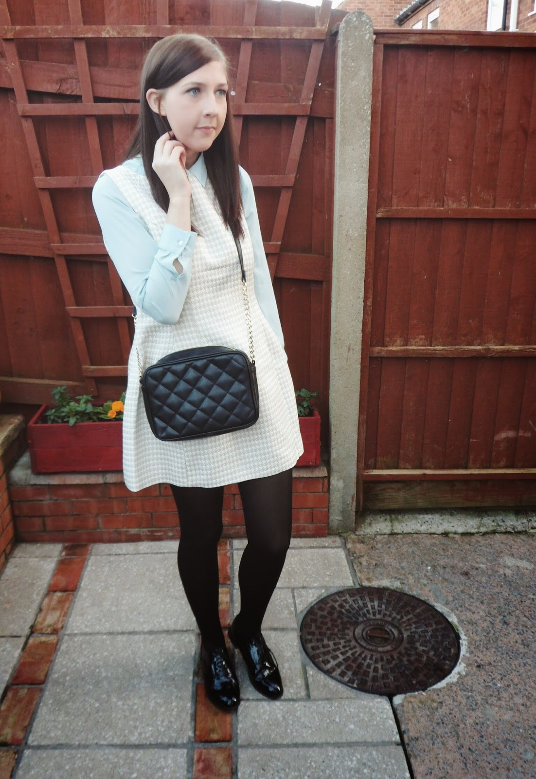 asseenonme, asos, primark, fuschiawhite, wiw, whatimwearing, ootd, outfitoftheday, lotd, lookoftheday, fbloggers, fashion, fashionbloggers, chanel, fblogger, brogues, gingham, fashionblogger, winterfashion, pastels