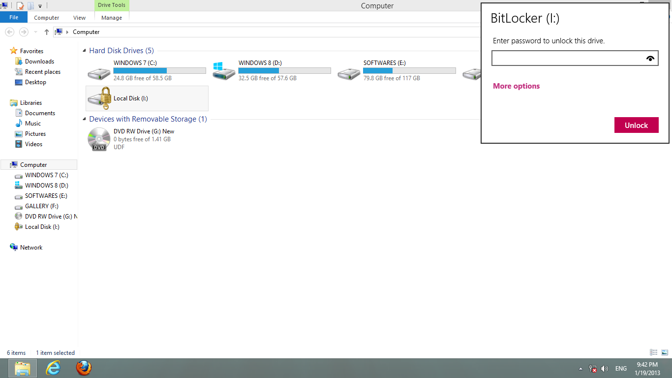 bitlocker how to lock drive