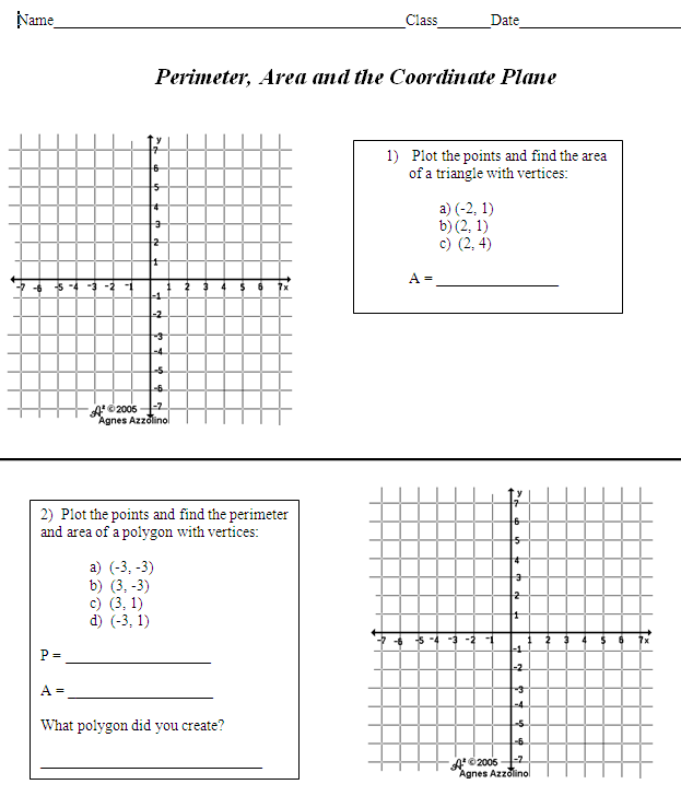 Polygons In The Coordinate Plane Worksheet Worksheets For School ...