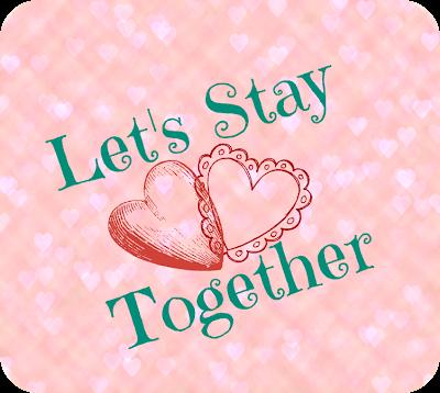 """Imagem com corações do banner """"Let's Stay Together"""", com corações entrelaçados"""
