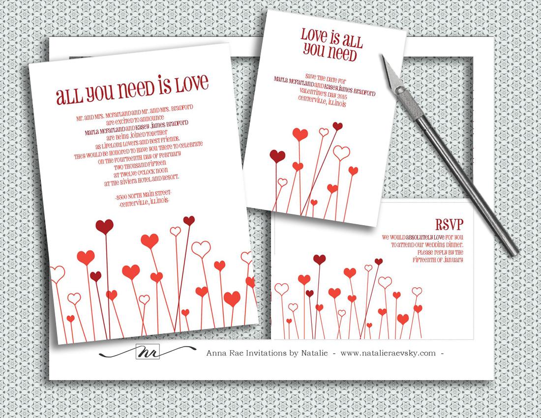 Valentines Wedding Invitation Wording