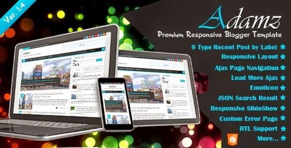 Template Adamz Premium Responsive