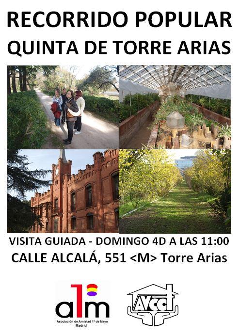 4 diciembre Te esperamos en la Quinta Torres Arias