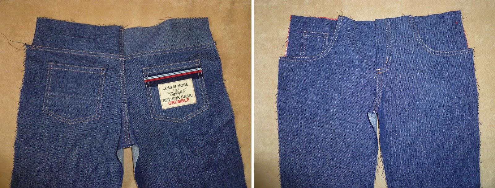 Сшить брюки на мальчика из старых джинс 71