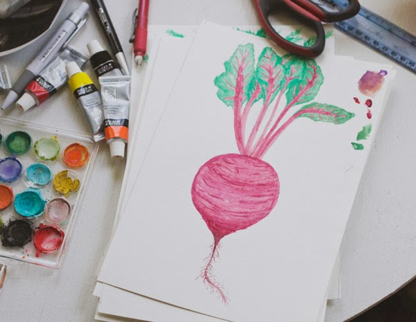 Beet watercolor print