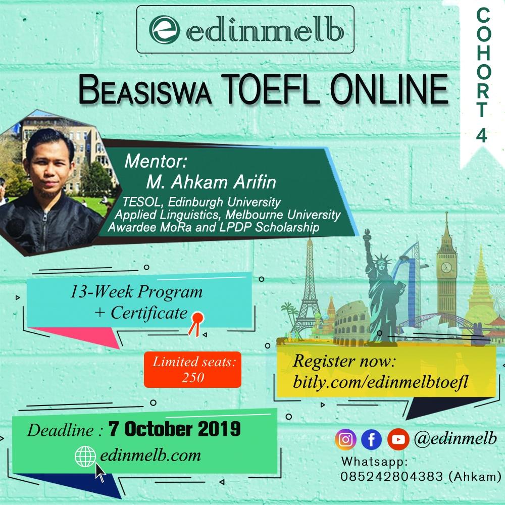 Beasiswa TOEFL Online