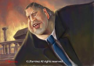 Evangelos Venizelos humor caricature
