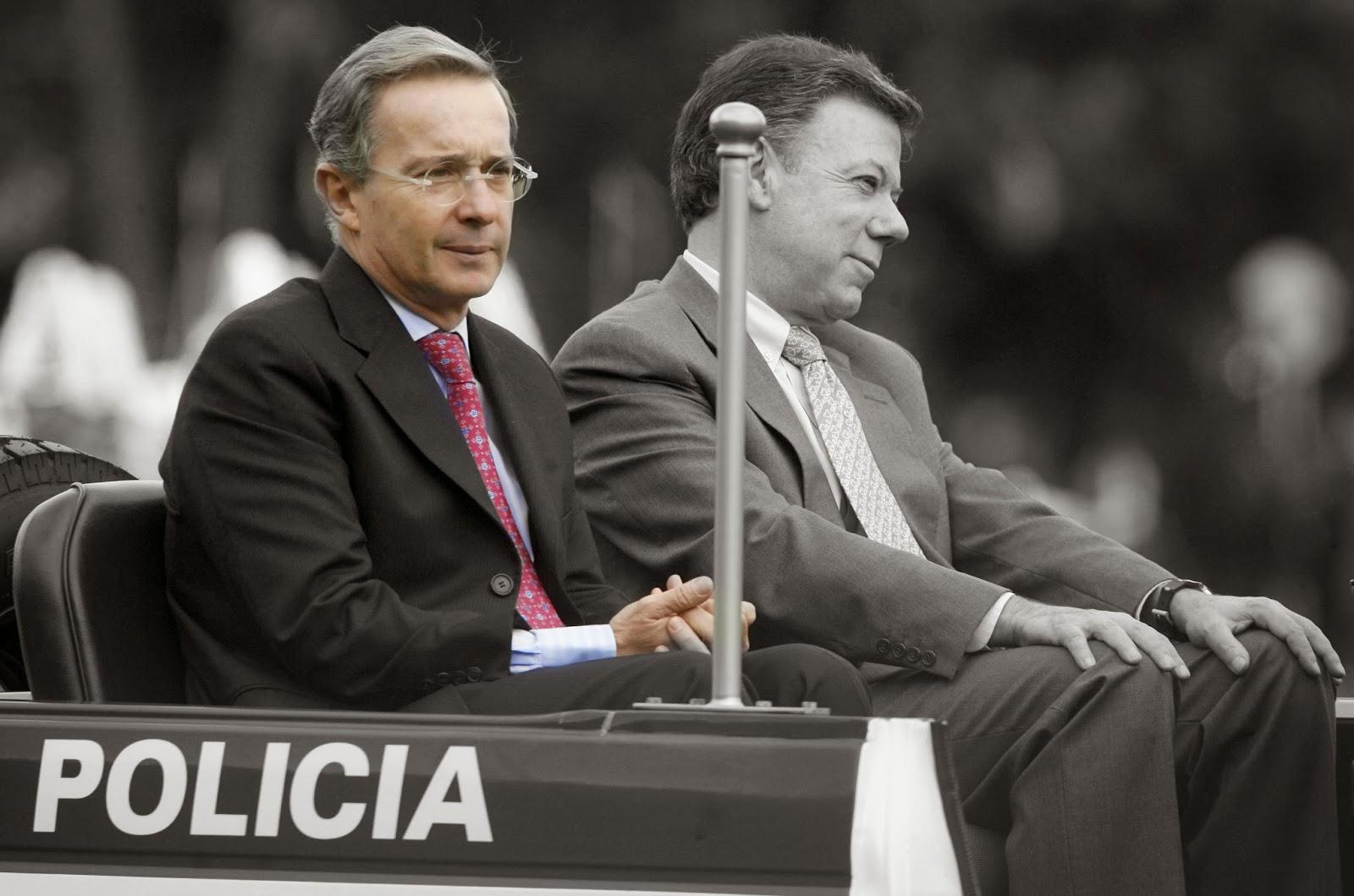 Álvaro Uribe Vélez y Juan Manuel Santos
