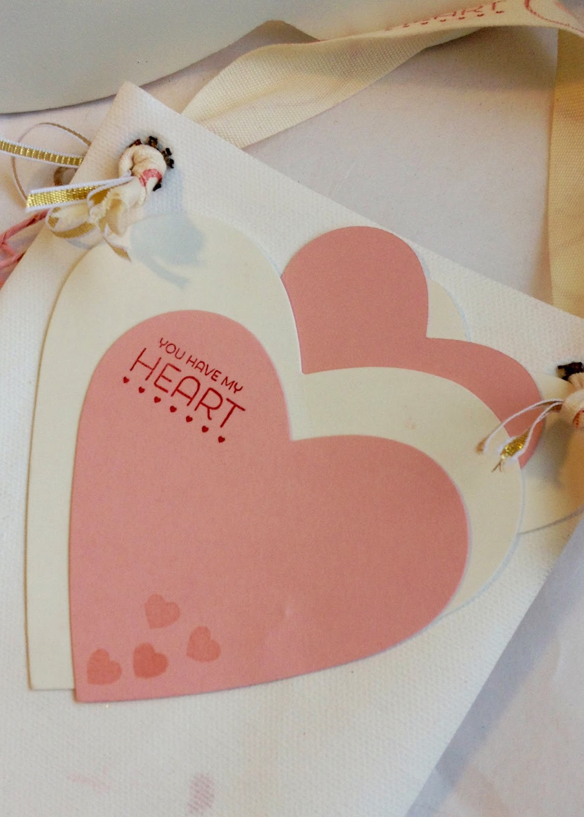 Heart Framelits Build a Banner Alternate Paper Pumpkin Jan 2015