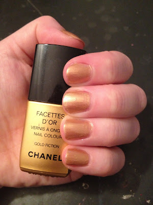 Chanel, Chanel Nail Polish, Chanel Facettes D'Or nail polish, Chanel Facettes D'Or Le Vernis Nail Colour Gold Fiction, Chanel Le Vernis Nail Colour, Chanel Gold Fiction, Chanel mani, Chanel manicure, nail, nails, nail polish, polish, lacquer, nail lacquer, mani, manicure