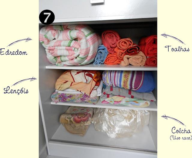 Arrumando o guarda-roupa