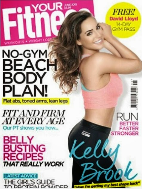 Actress, Model @ Kelly Brook - Your Fitness, June 2015