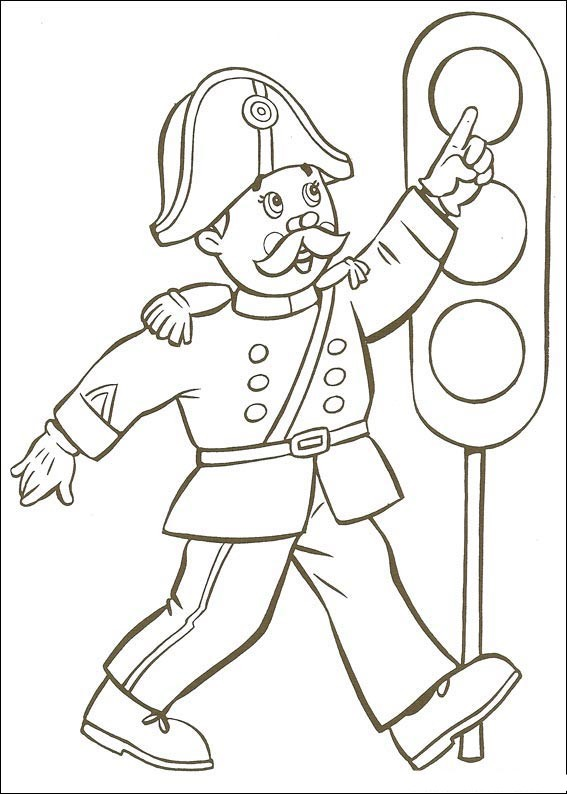 Noddy Coloring Page Child Coloring