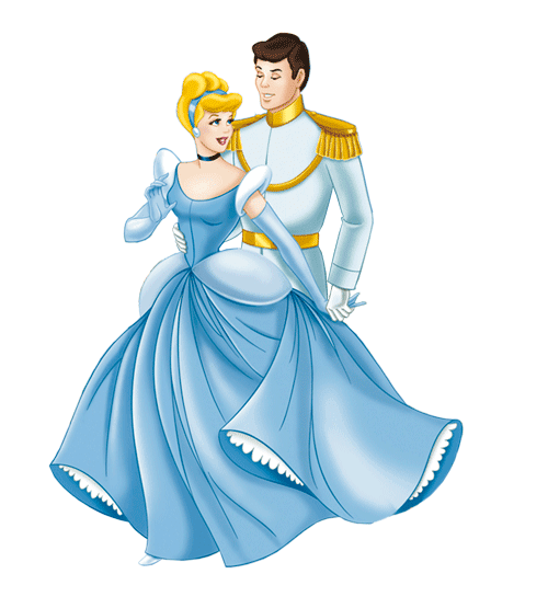 Image of Cinderella and Prince