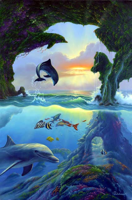 mind trick, dolphins, optical illusion