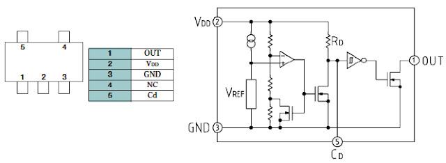 Hình 30 - Sơ đồ nguyên lý của IC tạo tín hiệu Reset.