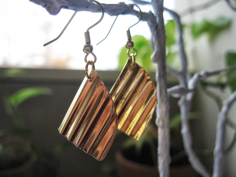 brass kinked earrings