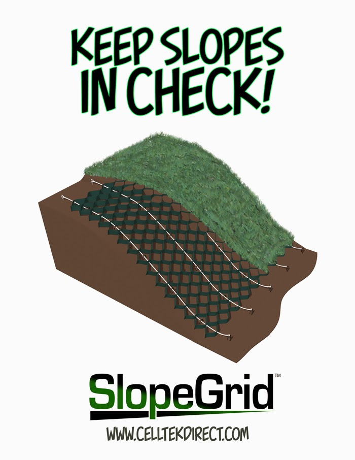 cell tek geosynthetics load support erosion control blog keep slopes in check with slopegrid. Black Bedroom Furniture Sets. Home Design Ideas