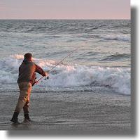 Casting a a fishing reel