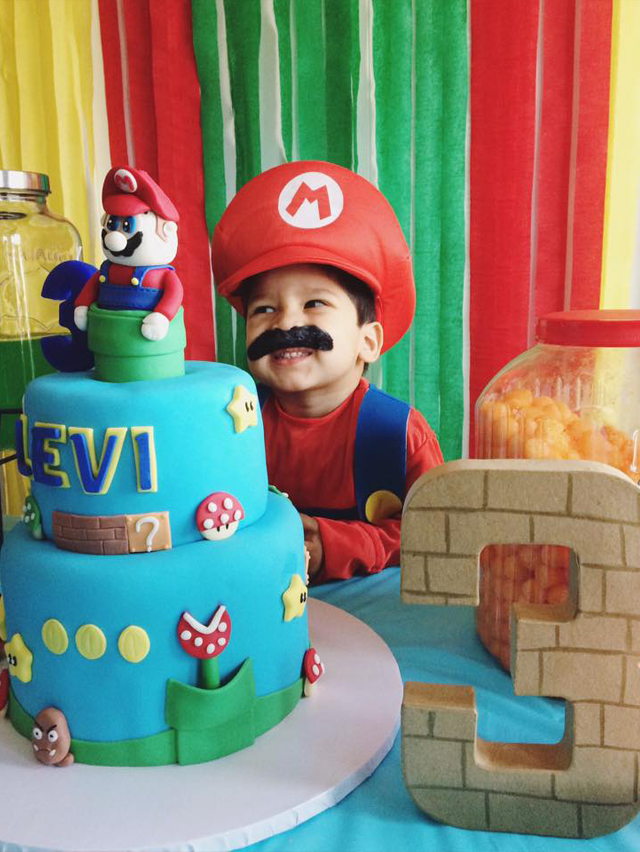 Cinsarah Levis Super Mario Birthday Party