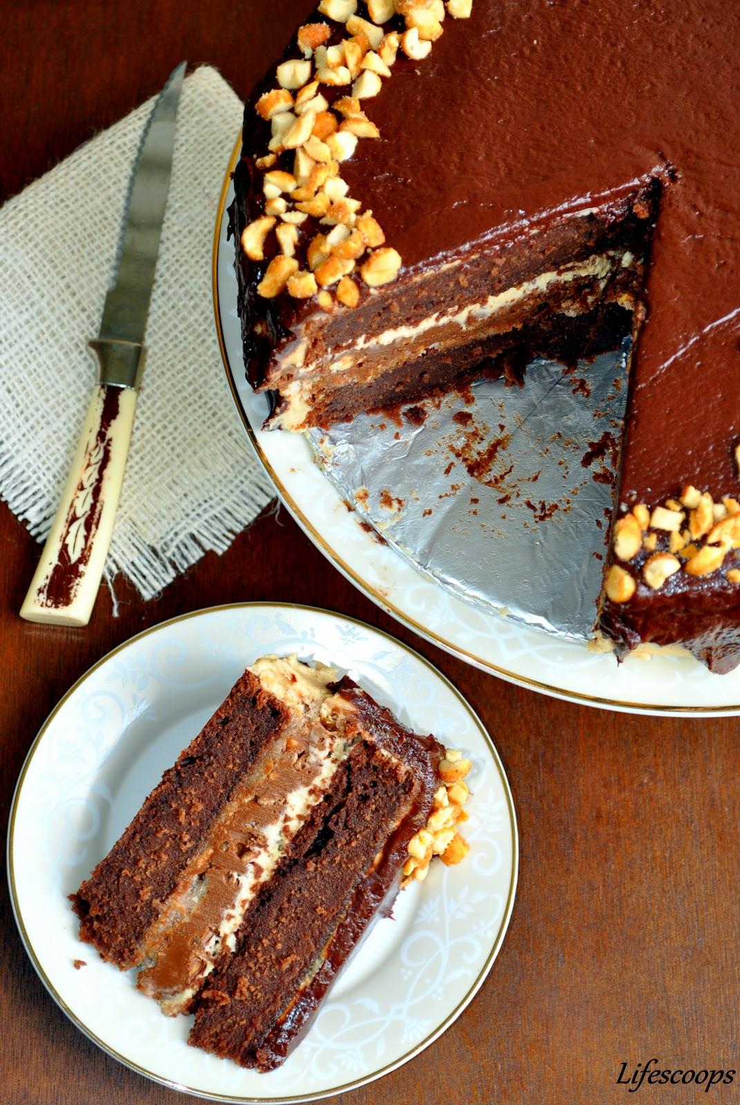 Layer Chocolate Sour Cream Cake