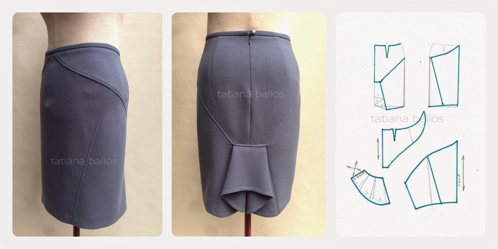 Моделирование суженной к низу юбки