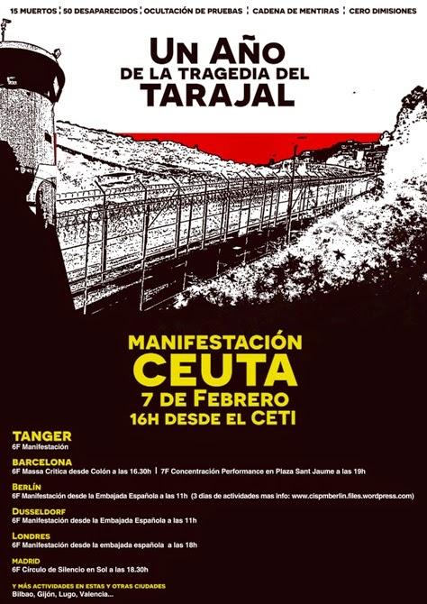 7F. Manifestació a Ceuta i arreu