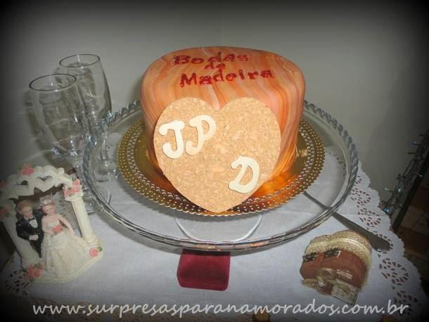 decoração bodas madeira