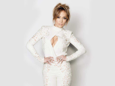 Jennifer Lopez in White Dress